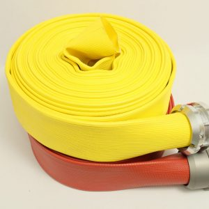 5 inch ldh supply hose, rubber coverd layflat fire hose